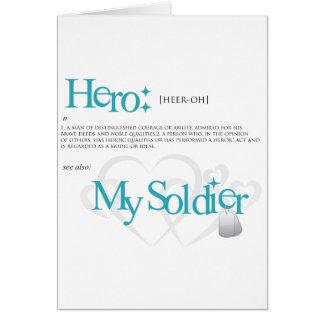 Cartão Herói: Meu soldado
