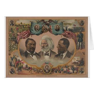 Cartão Heróis adiantados do afro-americano