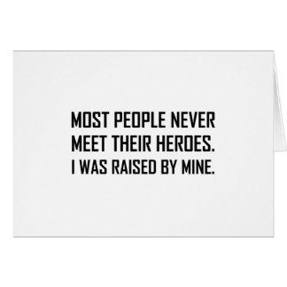 Cartão Heróis da reunião aumentados por meus