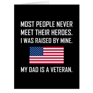 Cartão Heróis da reunião meu pai um veterano