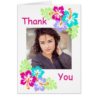 Cartão Hibiscus tropical - obrigado da graduação você