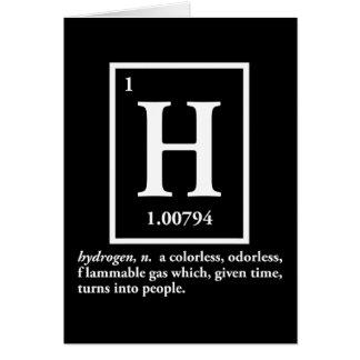 Cartão hidrogênio - um gás que transforme em pessoas