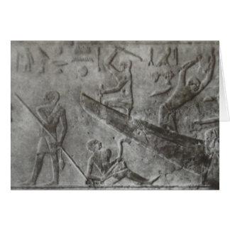 Cartão Hieroglyphics egípcios
