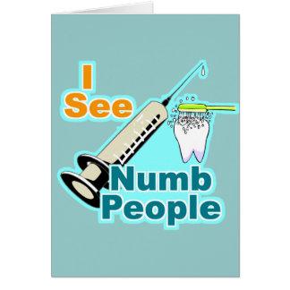 Cartão Higienista dental do dentista engraçado