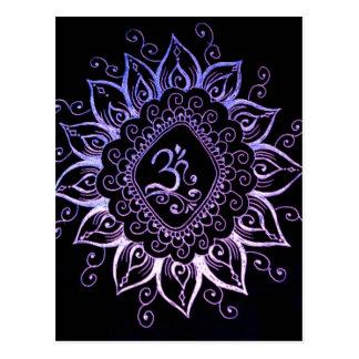 Cartão Hindu do símbolo do Henna