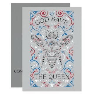 Cartão hino nacional do Reino Unido