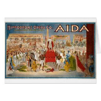 Cartão Hipódromo 1908 de Giuseppe Verdi Aida