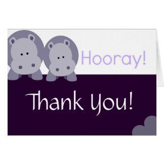 Cartão Hipopótamo do hipopótamo Hooray!