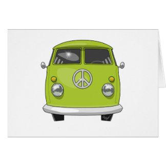 Cartão Hippie 1960 Van