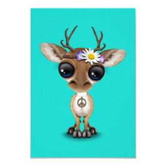 Cartão Hippie bonito dos cervos do bebê