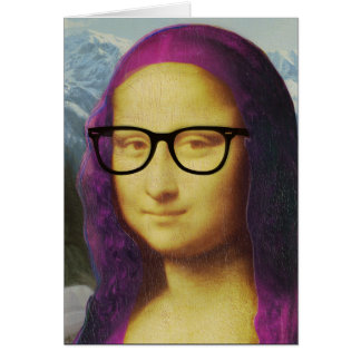 Cartão Hipster Mona