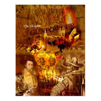 Cartão histórico da noite da fogueira