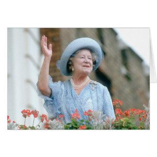 Cartão HM rainha Elizabeth, mãe de rainha 1985