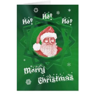 Cartão Ho! Ho! Ho! Feliz Natal! Pisc o papai noel