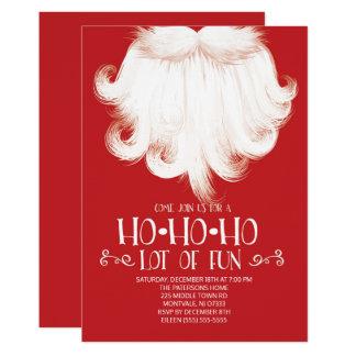 Cartão HO HO HO lotes da festa de Natal do papai noel do