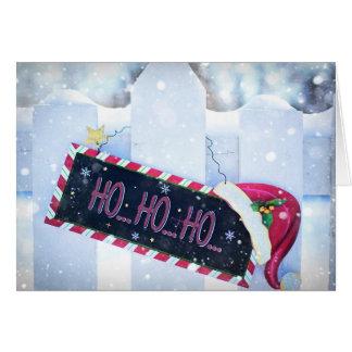 Cartão HO HO HO Natal feliz do feriado