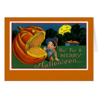 Cartão Ho! Por um Dia das Bruxas alegre