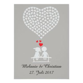 Cartão Hochzeitseinladung