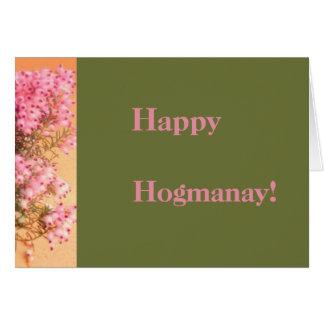 Cartão Hogmanay feliz!