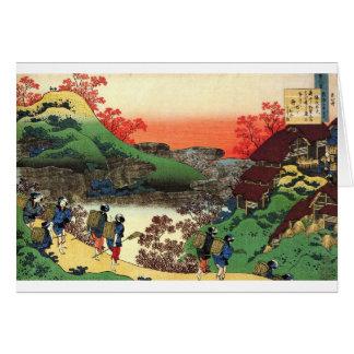 Cartão Hokusai - arte japonesa - Japão