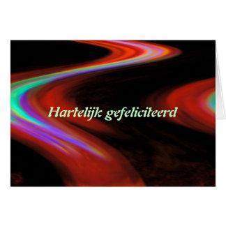 Cartão holandês do feliz aniversario