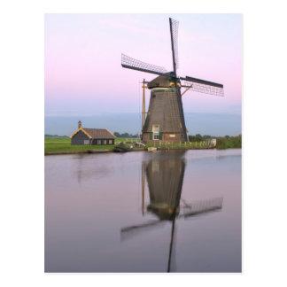 Cartão holandês do moinho de vento