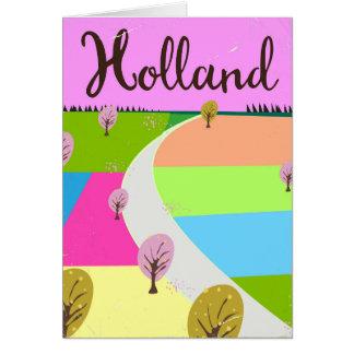 Cartão Holland coloca o poster de viagens