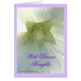 Cartão Hollyhock do wh da tia Darl alguma ocasião