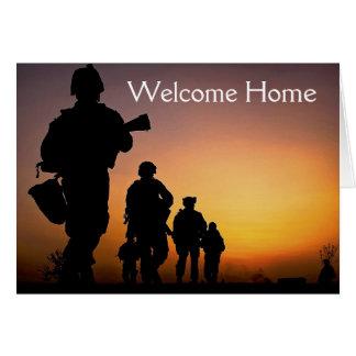 Cartão Home bem-vindo do soldado