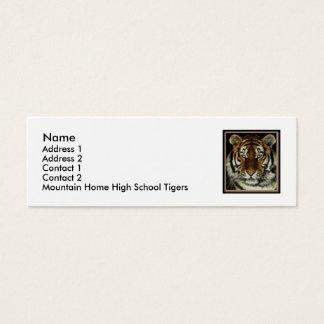 Cartão Home do contato dos tigres da montanha