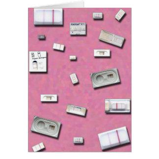 Cartão Home dos testes de gravidez