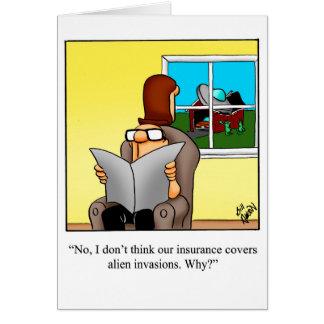Cartão Home novo do humor dos parabéns