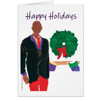 """Cartão """"Homem calvo"""" boas festas"""
