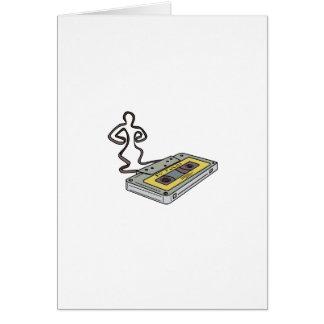 Cartão Homem compacto da cassete de banda magnética que