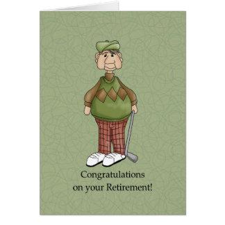 Cartão Homem da aposentadoria - humor