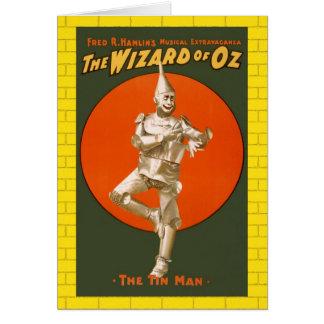 Cartão Homem da lata de mágico de Oz - teatro musical do
