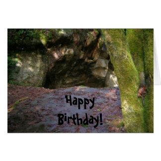 Cartão Homem das cavernas do aniversário