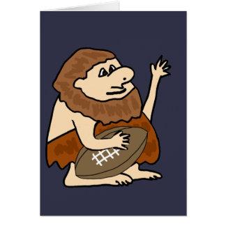 Cartão Homem das cavernas engraçado com desenhos animados