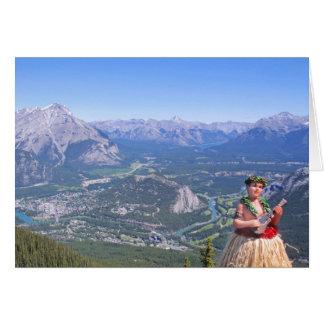 Cartão Homem de Hula em Banff, Canadá