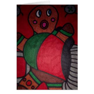 Cartão Homem de pão-de-espécie