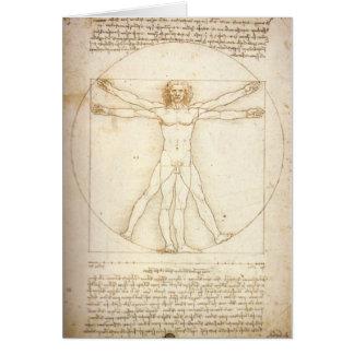 Cartão Homem de Vitruvian