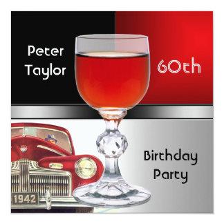 Cartão Homem do aniversário dos homens vermelhos