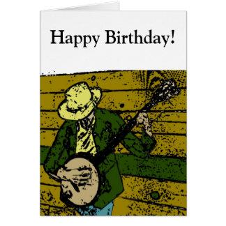 Cartão Homem do banjo