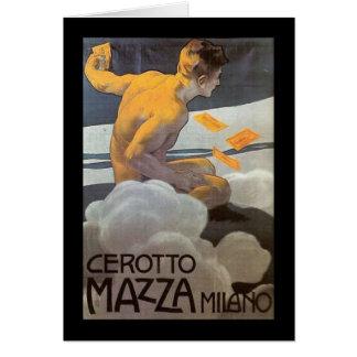 Cartão Homem do italiano do vintage