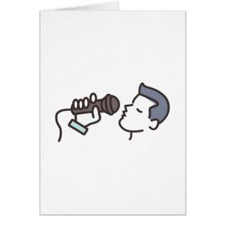 Cartão Homem do karaoke