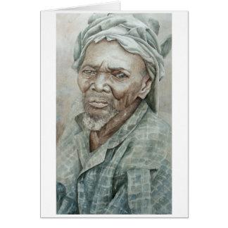 Cartão Homem farpado de Dogon