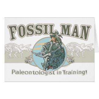 Cartão Homem fóssil por estúdios de Mudge