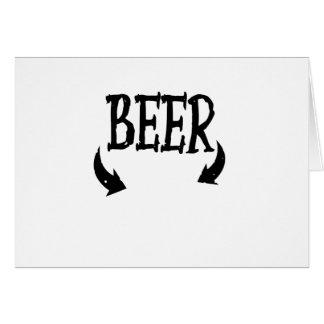 Cartão Homens engraçados do bebê da cerveja que combinam