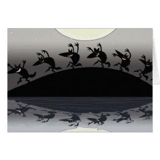 Cartão Homens-lobo do Dia das Bruxas