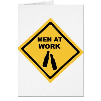 Cartão Homens no trabalho